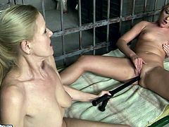 21 Sextury xxx clip provides you blond lesbian prisoners. These already naked bitches with nice tits gonna tease pussies on the bunk bed in the jail by polishing wet cunts with a truncheon.