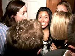 Trashy brunette college student is about to become porn star. She fucks furiously at the college party right in front of the whole crew. This bitch is really dirty slut, she has nothing to do in the college, she better be fucking on cam for the rest of her life coz she's indeed good in it.