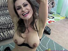 Hot POV scene with a charming milf Nora Noir! She is such a slender honey and she is going to make you feel the softness of her lips on your cock!