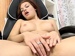 Fingering her warm twat makes her horny and needy to play even harder