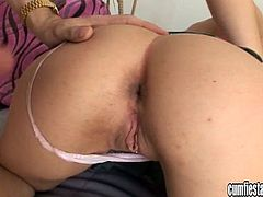 A slutty bitch sucks on a hard cock and gets her pussy fucked big fucking time, hit play and check it out right here. It's awesome!
