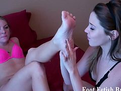 Claire and Dre both have sexy feet and perfectly pedicured nails. It's a pleasure for both of them to worship each others feet.