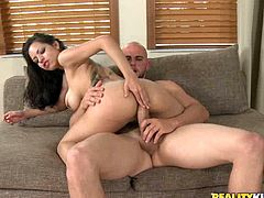 You wanted a hot Latina and that's what you'll get in this hardcore video where this mami shows off her great body before being nailed.
