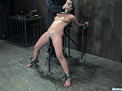 Angelica Saige is getting tortured to the limit in this extreme bondage video with some crazy action going on.