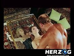 The boss fucks some hot bavarian sluts in this wild retro porn video. If you're into hairy cunts don't miss this nasty vintage fuck video.