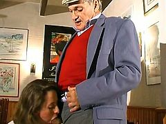 Naughty waitress fucking hard