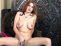 Babe with nice body Sabrina Maree is showing her fascinating body turning us on before starting to play with her luscious twat using her vibrator. Enjoy seeing all things here.