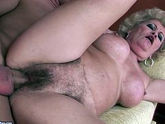 Well, there's no doubt that this bitchie old whore with big ass is a great blowlerina. Cum addicted slut with wrinkled old saggy tits enjoys both riding cock and giving a super solid blowjob for gooey cum.