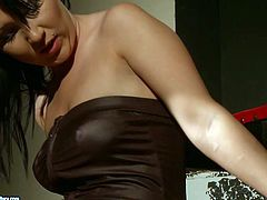 Dude, don't pass by this steamy 21 Sextury femdom session sex clip. Ardent brunette is rather pretty. Cute girlie is tied up with ropes and sits with her legs stretched wide. Dominant blondie rubs her clit madly.