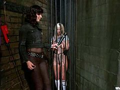 It's a lesbian BDSM video with Bobbi Starr and Cherry Torn and they are wicked and crazy enough to enjoy the torture, the strapon, and the toying action.