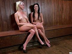 BDSM perversions with two sexy lesbian babes. Today Lorelei Lee will dominate, forcing Breanne Benson do some nasty things in pain!