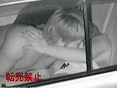 One car parked on the quiet street in the middle of the night. Peeping inside the car, these two got horny and didn't give a shit somebody could see. Amateur couple fucking in a car for all voyeur lovers out there.