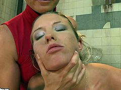 Incredibly horny chick gets her ass spanked hard by wicked mistress