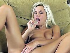 Young blonde Lola MyLuv gets naked and naughty