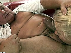 Welcome to see a really rapacious blond slut in 21 Sextury xxx clip. Kinky blondie with sweet tits and nice butt gives horny old man a rimjob and gets her fresh wet pussy licked in return right on the couch.