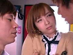 Hot youngster Yuu Namiki inside school uniform