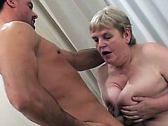 This older woman can't get enough of that young dick. Watch her gobble it till no end!