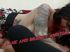 See how two wild and tattooed punk lesbians set an awesome private party. Watch them making out before munching and dildoing their cunts into orgasmic heaven.