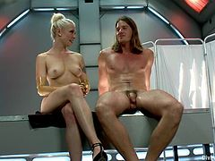 Lorelei Lee the sexy doctor fingers guy's ass and gets toyed