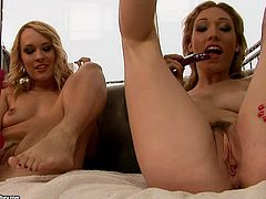 21 Sextury xxx clip provides you with two kinky blond lesbians. Already naked chicks with natural tits and flossy asses spread legs and polish wet pussies with several sex toys for orgasm.