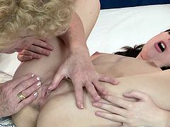 This old woman knows how to make her lesbian friend happy. She licks her pussy greedily like a true cunt licker. Check out this hot lesbian sex scene and I'm kinda sure you will like it.