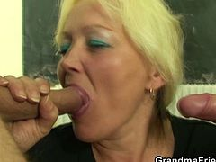 Watch two lucky studs having a lot fun with a nasty mature in this breathtaking threesome video. Courtesy of Grandma Friends you can see her fucked into kingdom come.