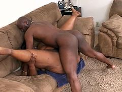 Check out this horny ebony momma from the hood having fun with her younger neighbour. She deepthroats his big cock and takes it deep into her fat cunt like a champ!