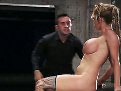 Smooth stud Keiran Lee slams curvy Nikki Benz from all angles on his brand new car while her huge tits jiggle around.