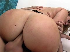 Her tight ass hole got really stretchd by large cock fucking her hard