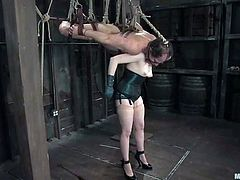 But, that ain't a sensual handjob she gives to him! Claire Adams is a divine bitch with her cruelty and she is going to cause him so much harm!