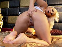 Nothing pleases her better than afat cock stroking deep down her shaved ass