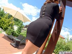 Watch the alluring brunette slut Madlin Moon stripping and provoking before giving her man a hell of a blowjob. Then she's ready to get her tight butt drilled hard into a massive pov anal orgasm.
