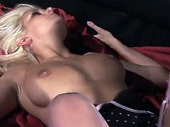 Busty whore in lingerie gets drilled as she rides that hard cock in her wet slit in this steamy pussy wrecking encounter on the cough.