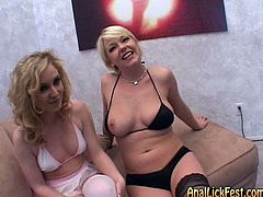These torrid gals with fine bodies know how to get this dude's attention. They are all over each other licking each other's buttholes tenderly and sensually. Check out this passionate lesbian sex scene now to see what else these spoiled bimbos are up to.