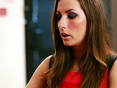 High class porn clip is presented to your attention by professional porn producers Fame Digital. Torrid brunette mom with killer body is wearing red sexy red looking gorgeous. She seduces her boss of sex. The woman kneels down and gives stout blowjob.