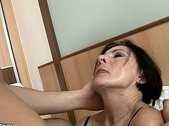 This mature slut always gets what she wants. She grabs her lover by his head and pulls him towards her hungry pussy so he can lick her snatch. Then she returns the favor with a blowjob.