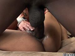 Lyla Lei is a hot Asian who has an interracial threesome. The black dude fucks her ass hole before they both fuck her cunt hole at the same time. She does ass to mouth.