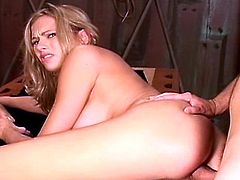 Briana Banks is an amazing pornstar. She can't say no to cock and she definitely can't refuse two cocks at once. These guys fuck all her holes alternatively and at the same time.