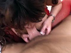Ava Devine is always hungry for big cocks. She is talking really dirty and starts to blow this cock in the pov style. Seconds later she is riding it with her tight asshole!