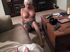 Nasty blonde hooker Carly Parker is sucking big dick properly. She is also washing dude's balls. She gives bj so good so the guy cums early and fills her mouth with big load.