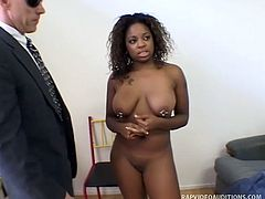 This pornstar wannabe will do anything just to get the main role of the movie and apparently, getting a-head of the competition is what Brooke had in mind. This busty ebony beauty gives out a blowjob at her auditions for the main character.