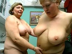 Mature Chubby Sluts Fingering And Licking Each Others Pussy