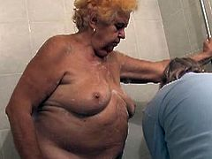 If you're into really old ladies, look no further and check out this video where a 86 year old granny gets her body washed to fuck. Naked lady has saggy tits and a very wrinkled ass, wanna see?