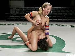 So, today is a principle match for both DIa Zerva and Wenona! They are on the pitch to make it in a rough fight. They love wrestling and having lesbian sex at a time!