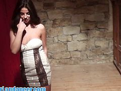 Check out this horny latino chick living in the Czech Republic. She is not shy at all and showes amazing lapdance moves and showed also her big natural titties!