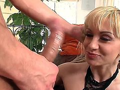 Handsome Ricky Silverado tries his best to satisfy Lea Lexiss demanding cunt and she eats his cum after a job well done.