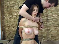 This horny and sizzling chick Alison is so fucking perverted! She loves it huge and that huge one on the fucking machine fucks her hard.
