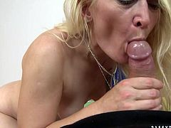 This woman wants to get really wild with this stud's cock. She takes his rock hard erection up her juicy fanny and rides it passionately in reverse cowgirl position. Then she spreads her legs wide for missionary style pounding.