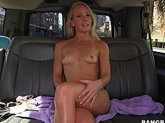 Sunny raises hard cocks wherever she goes so that's why we took her for a ride with the Bang Bus! Soon, she picked up a black dude and for her pleasant surprise he had a huge cock. Sunny immediately started to drool so she grabbed his penis and sucked it. Her pink lips slided on his black cock and she wanted more!