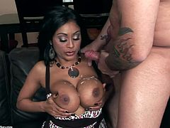 Please give a warm welcome to this divine milf Priya Anjali Rai! Honey is back and she is looking better than ever. Sucking a cock and getting balled is what she is here for.
